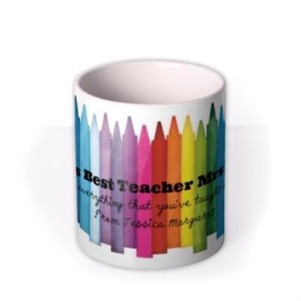 Mugs - World's Best Teacher Personalised Mug - Image 3