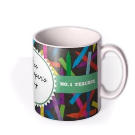Mugs - World's Best Teacher Stencil Personalised Mug - Image 2