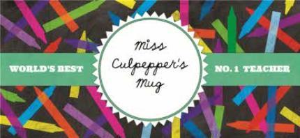 Mugs - World's Best Teacher Stencil Personalised Mug - Image 4