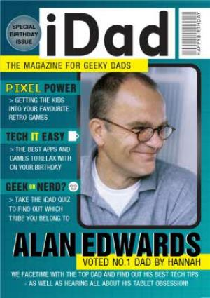Greeting Cards - I Dad Magazine For Geeky Dad Personalised Photo Card - Image 1