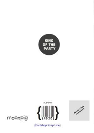 Greeting Cards - King Of The Party Photo Upload Card - Image 4