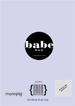 Greeting Cards - Birthday Babe Cover Photo Upload Card - Image 4