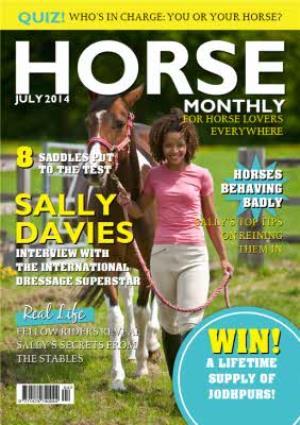 Greeting Cards - Horse Monthly Spoof Magazine Personalised Photo Upload Happy Birthday Card - Image 1