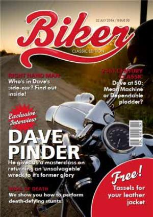 Greeting Cards - Biker Magazine Spoof Classic Edition Personalised Birthday Card - Image 1