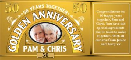 Mugs - Golden Anniversary Personalised Photo Upload Mug - Image 4