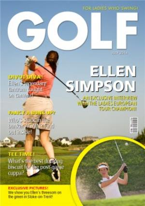 Womens Golf Birthday Card