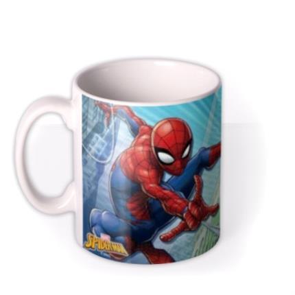 Mugs - Marvel Spiderman Great Power Photo Upload Mug - Image 1
