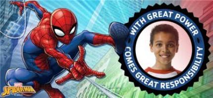 Mugs - Marvel Spiderman Great Power Photo Upload Mug - Image 4