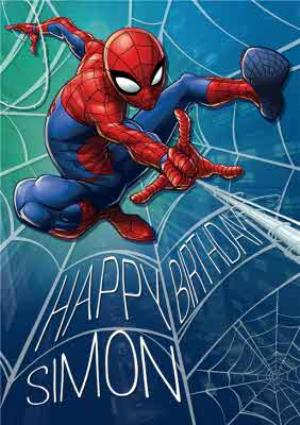 Greeting Cards - Marvel Spiderman Personalised Birthday Card - Image 1