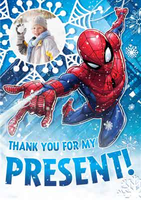 Spiderman Card Christmas Thank You For My Present Moonpig