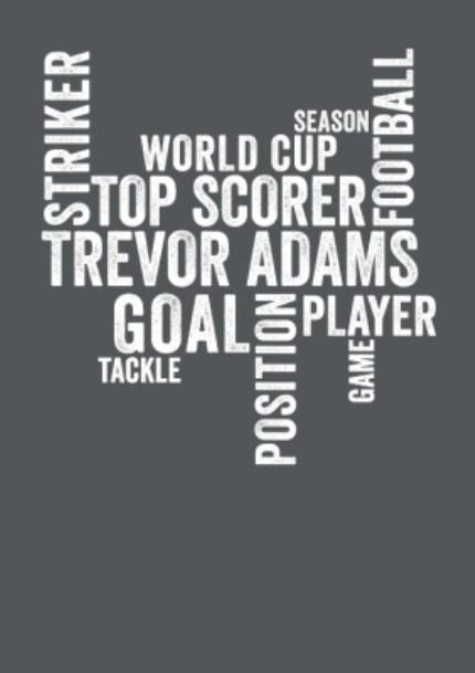 T-Shirts - Football Word Collage Personalised T-shirt - Image 4