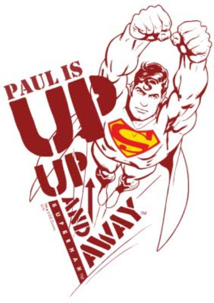 T-Shirts - Superman Up and Away Personalised T-shirt - Image 4