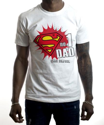 T-Shirts - Father's Day Superman No.1 Personalised T-shirt - Image 2
