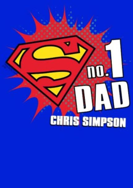 T-Shirts - Father's Day Superman No.1 Personalised T-shirt - Image 4