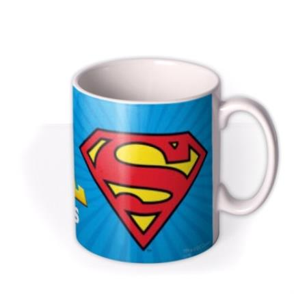 Mugs - Superman Man Of Steel Personalised Name Mug - Image 2