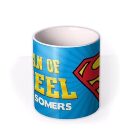 Mugs - Superman Man Of Steel Personalised Name Mug - Image 3