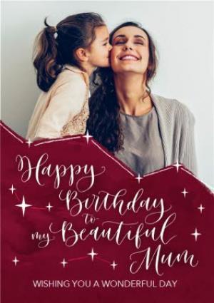 Greeting Cards - Beautiful Mum Photo Upload Birthday Card  - Image 1