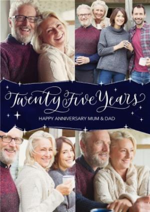 Greeting Cards - 25th Anniversary Card for Mum and Dad - Twenty Five Years - Image 1