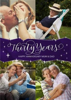 Greeting Cards - 30th Anniversary Card for Mum and Dad - Thirty Years - Image 1