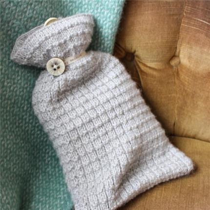 Stationery & Craft - Hot Water bottle Knitting Kits - Soft Grey - Image 2