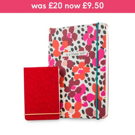 Stationery & Craft - Caroline Gardner Paint The Town Red Notebook Set - Image 1