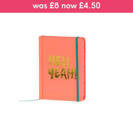 Stationery & Craft - A6 Hell Yeah Peach Notebook - Image 1