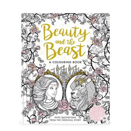 Stationery & Craft - The Beauty and the Beast Colouring Book - Image 1