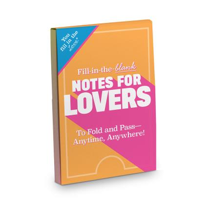 Stationery & Craft - Notes For Lovers - Fill In The Blanks - Image 1