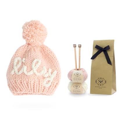 Toys & Games - Personalised Pink Hat Knit Kit - Image 3