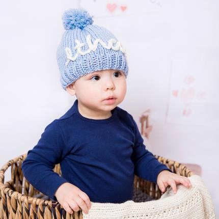 Toys & Games - Personalised Mini Blue Hat Knit Kit - Image 4