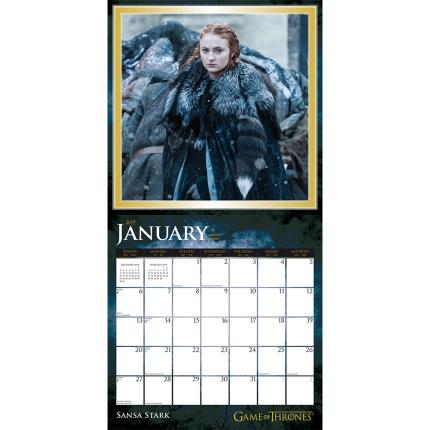 Stationery & Craft - Game of Thrones 2019 Square Wall Calendar - Image 3