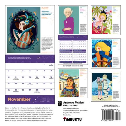 Stationery & Craft - Good Night Stories for Rebel Girls 2019 Wall Calendar - Image 2