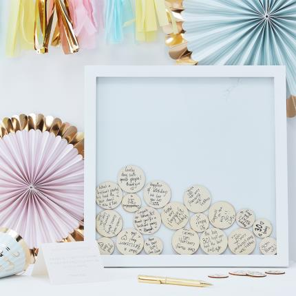 Stationery & Craft - Drop Top Frame Guest Book - Image 1