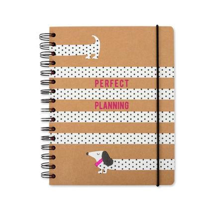 Stationery & Craft - Sausage Dog Perfect Planning A5 Tabbed Notebook - Image 1