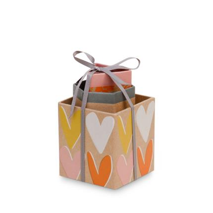 Stationery & Craft - Caroline Gardner Layered Hearts Triple Pen Tidy - Image 2