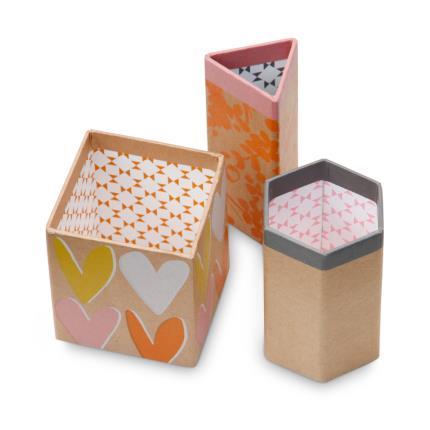 Stationery & Craft - Caroline Gardner Layered Hearts Triple Pen Tidy - Image 3