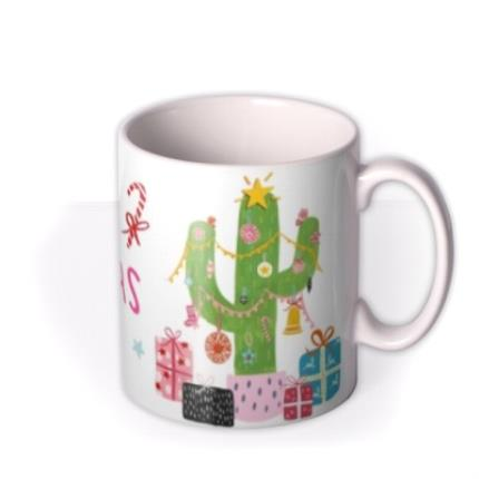 Mugs - Christmas Cactus Personalised Mug - Image 2