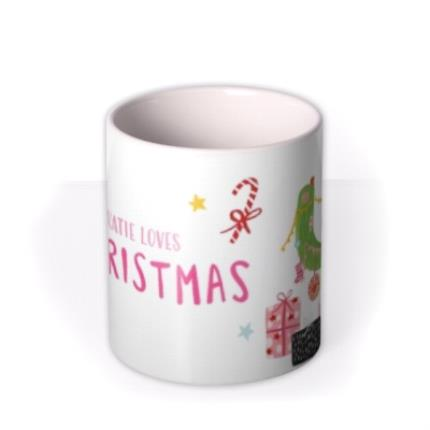 Mugs - Christmas Cactus Personalised Mug - Image 3