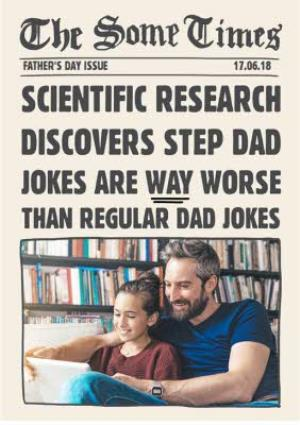 Greeting Cards - Bad Step Dad Jokes Father's Day Card - Image 1
