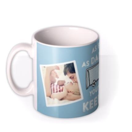 Mugs - Father's Day Keeper Photo Upload Mug - Image 1