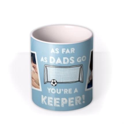 Mugs - Father's Day Keeper Photo Upload Mug - Image 3