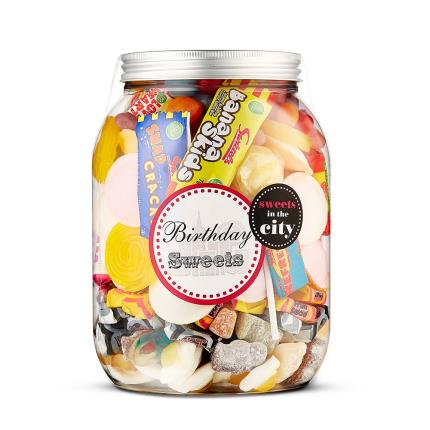 Food Gifts - Giant Jar of Birthday Sweets - Image 1
