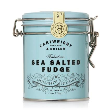 Food Gifts - Cartwright & Butler Salted Caramel Fudge Tin - Image 1