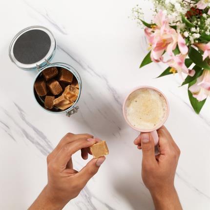 Food Gifts - Cartwright & Butler Salted Caramel Fudge Tin - Image 2