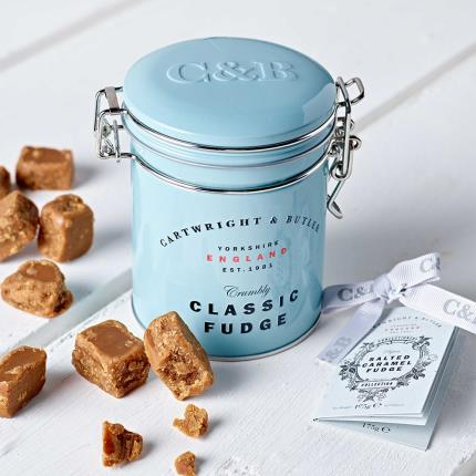 Food Gifts - Cartwright & Butler Salted Caramel Fudge Tin - Image 3