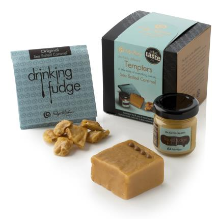 Food Gifts - Fudge Kitchen Sea Salted Caramel Tempters Box - Image 1