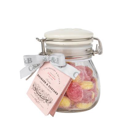 Food Gifts - Cartwright & Butler Rhubarb & Custard Sweets Jar - Image 1