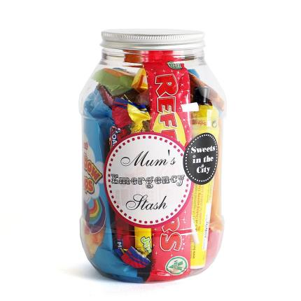 Food Gifts - Mums Emergency Stash Sweets Jar - Image 1