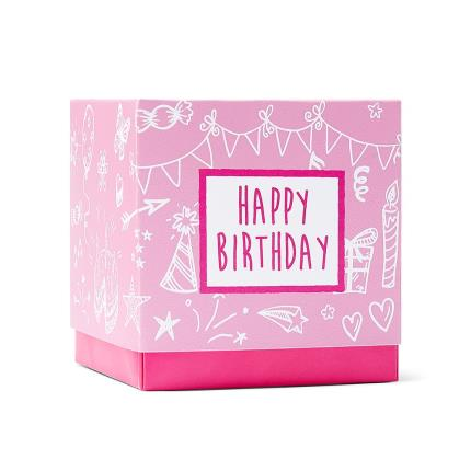 Food Gifts - Happy Birthday Sweet Box Pink - Image 1