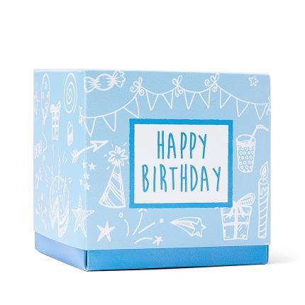 Food Gifts - Happy Birthday Sweet Box Blue - Image 1